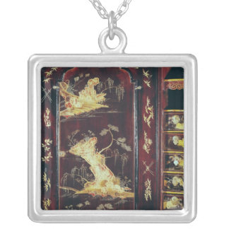 Desk decorated with Chinese lacquer Silver Plated Necklace