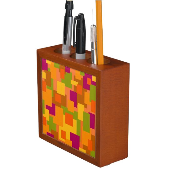 Desk Organiser with Autumn Patch 2 Abstract Art