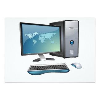Desktop Computer Invitations