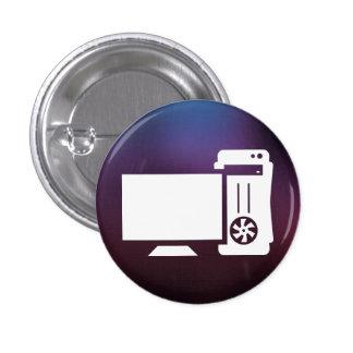 Desktop Monitors Graphic 3 Cm Round Badge