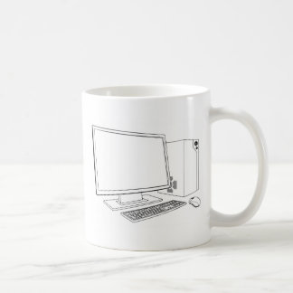 Desktop PC computer workstation Coffee Mugs