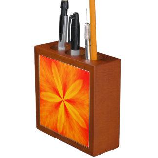 Desktop Pencil Organizer Five Petals Orange Pencil Holder
