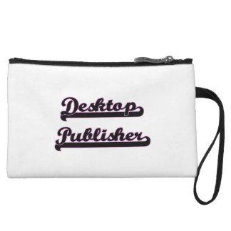 Desktop Publisher Classic Job Design Wristlet Clutch