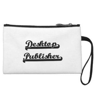 Desktop Publisher Classic Job Design Wristlet Clutches