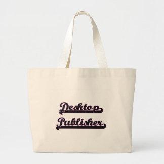 Desktop Publisher Classic Job Design Jumbo Tote Bag