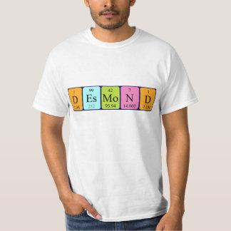 Desmond periodic table name shirt
