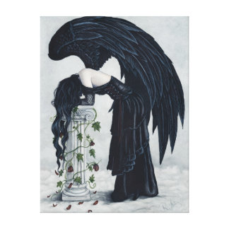 Despair Gothic Angel Sad Canvas Print