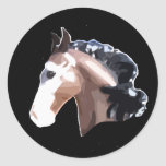 Desperado the Mustang Round Stickers