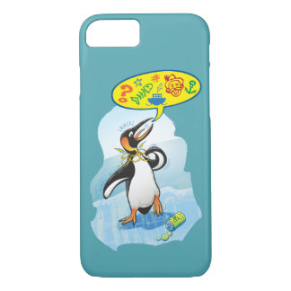 Desperate king penguin saying bad words iPhone 8/7 case