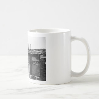 Desperate Times - A shanty built from refuse Coffee Mugs