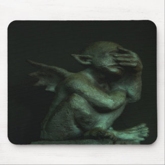Despondent Gargoyle Mouse Pads