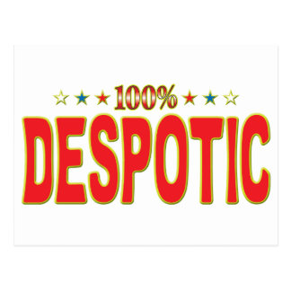 Despotic Star Tag Postcard