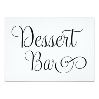 Dessert bar Wedding Sign 13 Cm X 18 Cm Invitation Card