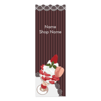 Dessert card @ strawberry parfait * chocolate pack of skinny business cards