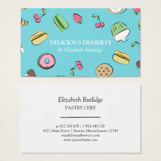 Dessert Doodles | Bakery Business Card