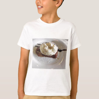 Dessert made with whipped cream and hazelnuts shirts