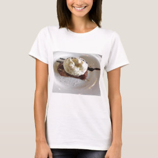 Dessert made with whipped cream and hazelnuts T-Shirt