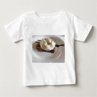 Dessert made with whipped cream and hazelnuts tee shirts