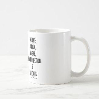 Dessert Noun Verb Interjection And Delicious Basic White Mug