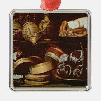 Dessert or The Confectioner's Sign Silver-Colored Square Decoration