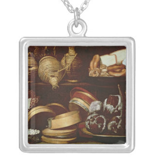 Dessert or The Confectioner's Sign Silver Plated Necklace