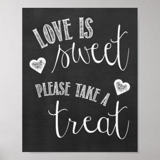 Dessert Table Chalkboard Wedding Poster