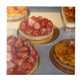 Desserts Small Square Tile
