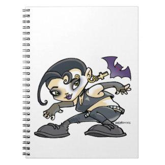 dessin jeune fille gothic carnet