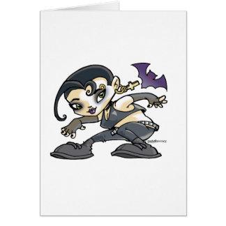 dessin jeune fille gothic carte de vœux