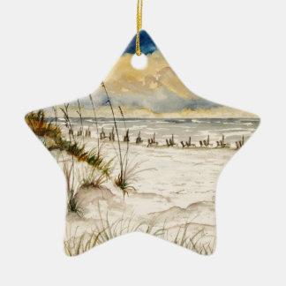 Destin Florida Beach Art Christmas Ornament