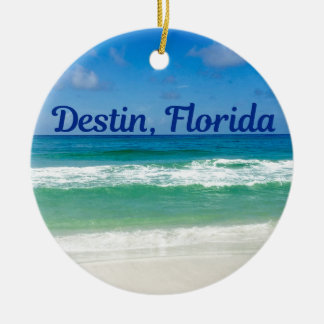 Destin Florida Beach Photograph Christmas Ornament