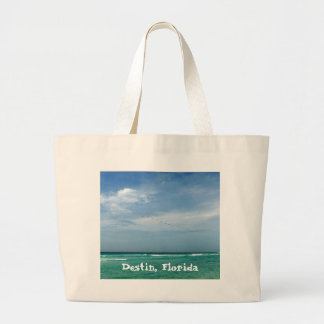 Destin, Florida Sea/Sky Design Large Tote Bag