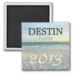 Destin Florida sugar sand beach - CUSTOMIZE YEAR Refrigerator Magnet