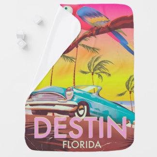 Destin Florida USA vintage travel poster. Baby Blanket