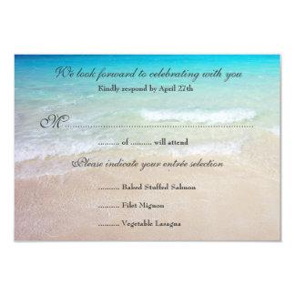 "Destination Beach Wedding Reply Cards Entrée 3.5"" X 5"" Invitation Card"