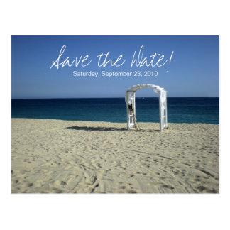 Destination Beach Wedding Save the Date Postcard 1