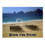 Destination Beach Wedding Save the Date Postcard 2
