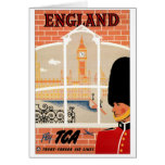 Destination: England Poster Vertical Greeting Greeting Cards