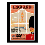 Destination: England Travel Poster Postcard