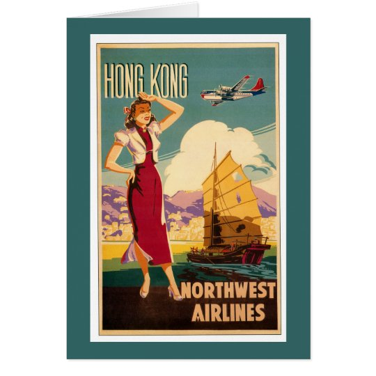 Destination: Hong Kong Vertical Greeting Card