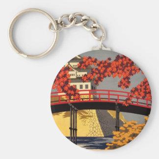 Destination: Japan Travel Poster Key Chain