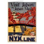 Destination: Japan Travel Poster Vertical Greeting