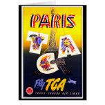 Destination Paris Vertical  Greeting Card