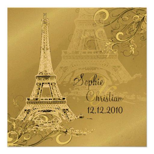 Destination Paris  Wedding Invitations