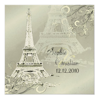 Destination Paris  Wedding Invitations