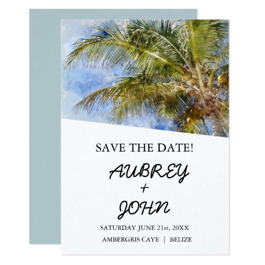 Destination Save the Date Wedding Card