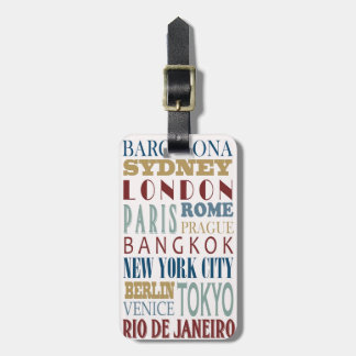 Destination Travel luggage tag