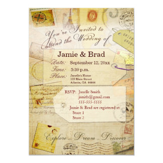 Destination Wedding Invitation Theme in cream