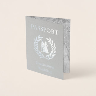 destination wedding passport foil card