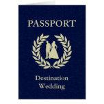 destination wedding passport note card